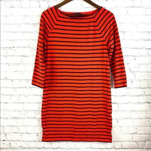 Gap Women's Orange Striped Dress size S